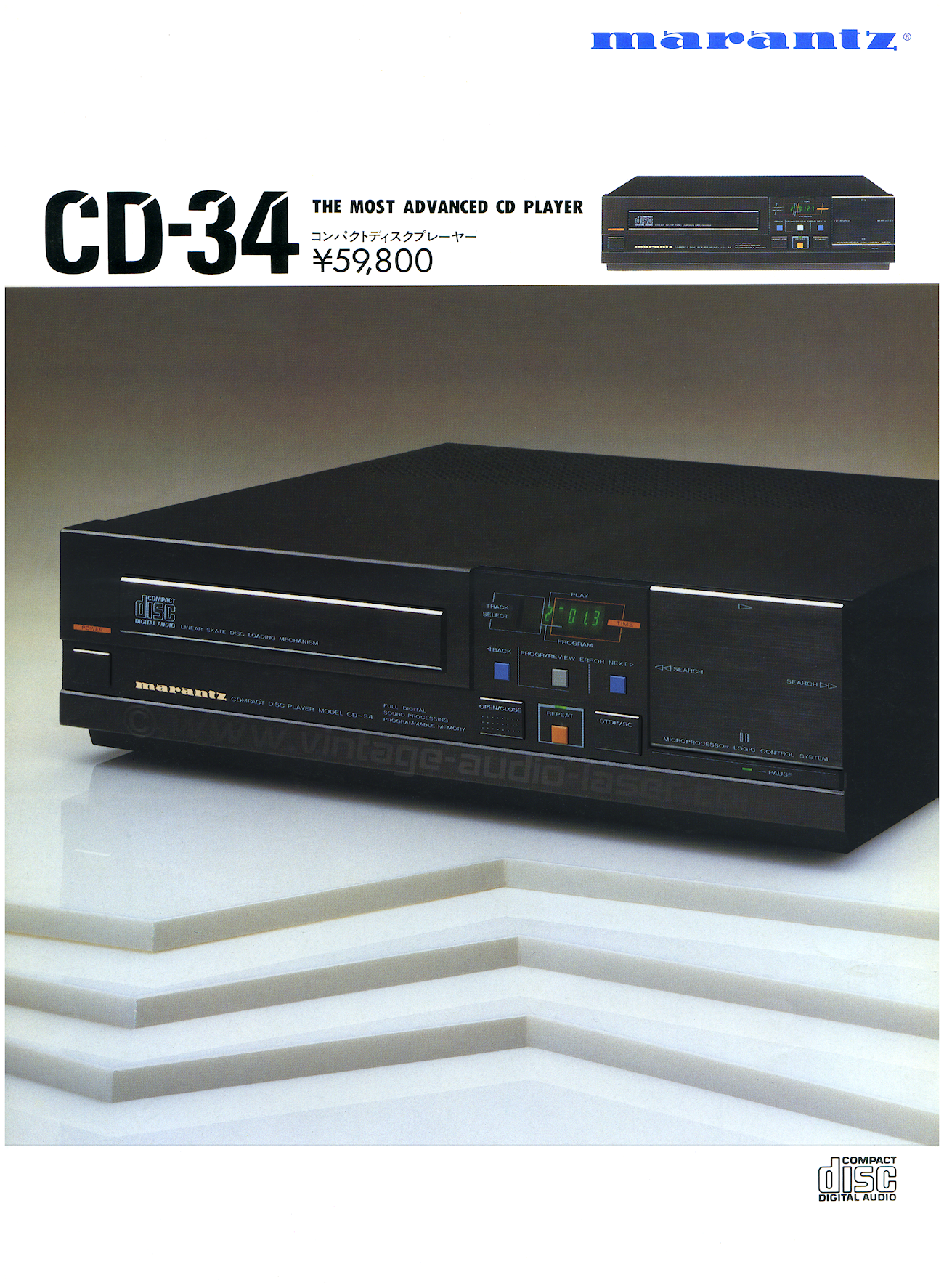 marantz cd34 vintage audio. Black Bedroom Furniture Sets. Home Design Ideas